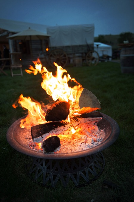 Fire Pit at Wedding Reception