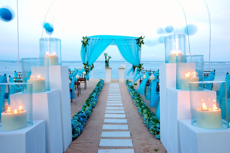 Beach Wedding Blue