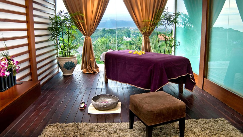 Massage spa room