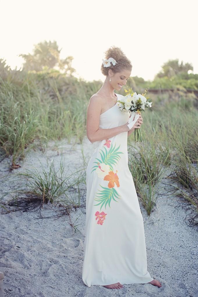 tropical beach wedding dress